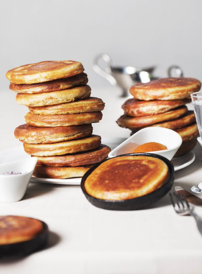 Blini brunch on Saturdays at 12-18